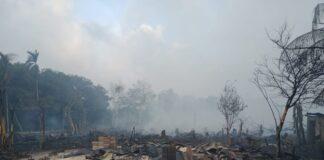 Kebakaran hutan dan lahan (Karhutla) hebat terjadi di Tanjung Berlian Kota, Kecamatan Kundur Utara, Karimun, Kepulauan Riau (Kepri).