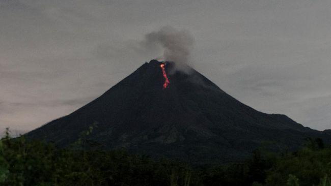 Ilustrasi. Gunung Merapi meluncurkan guguran lava pijar sebanyak 10 kali pada Minggu (7/2) ke arah barat daya. (Antara/Andreas Fitri Atmoko)