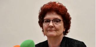 Direktur Pusat Pencegahan dan Pengendalian Penyakit Eropa (ECDC) Andrea Ammon saat konferensi pers tentang wabah COVID-19 di Roma, Italia, pada 26 Februari 2020. (Foto: AFP / Alberto Pizzoli)