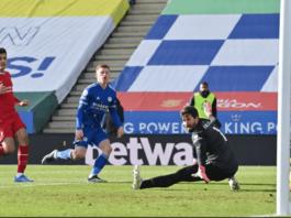 Gol ketiga Leicester City yang dicetak oleh Harvey Barnes menjadikan skor 3-1 untuk kemenangan tuan rumah atas Liverpool di Stadion King Power, Sabtu (13/2/2021). (Foto: Premierleague.com).