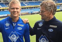 Ole Gunnar Solskjaer (kanan) bersama Erling Braut Haaland saat masih sama-sama di Molde. MU kemungkinan akan mengajukan tawaran baru untuk Erling Haaland musim panas ini. (Foto dari The Sun).