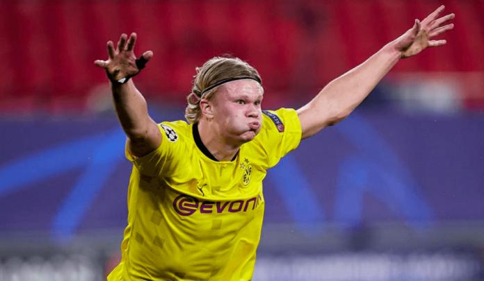 Striker Borussia Dortmund Erling Braut Haaland telah mencetak 18 gol di Liga Champions sebelum berusia 21 tahun. Pemain Norwegia itu hanya kurang satu gol lagi untuk menyamai rekor gol Kylian Mbappe pada usia yang sama. (Foto: Uefa.com)