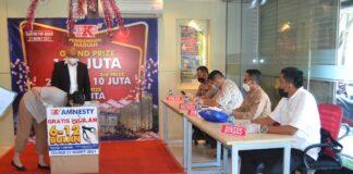 Acara pengundian berhadiah tahap 1 oleh Developer PKP di tahun 2021 berlangsung di kantor PKP di Jodoh, Kota Batam. Rabu (31/03 ) pukul 17.00 WIB. Foto/ist