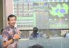Presiden Direktur ATB, Benny Andrianto saat mempresentasikan SPARTA Smart Solution. Teknologi terintegrasi ini akan jadi nilai tambah ATB dalam mengikuti lelang pengelolaan SPAM Batam.