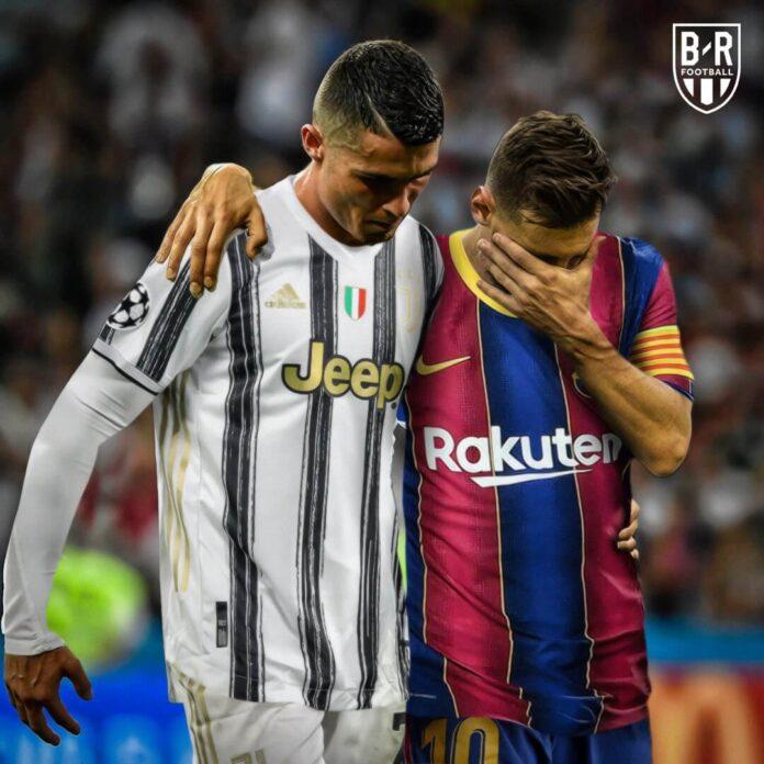 Cristiano Ronaldo dan Lionel Messi.(Foto: Twitter)