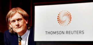 Bos Thomson Reuters, raksasa media Reuters, David Kenneth Roy Thomson adalah Baron Thomson dari Armada ke-3 adalah rekan turun temurun dan tokoh media Kanada. Setelah kematian ayahnya pada tahun 2006, Thomson menjadi ketua Thomson Corporation dan juga mewarisi gelar Inggris ayahnya, Baron Thomson of Fleet. Catatan Forbes, dia memiliki kekayaan bersih 42,3 miliar USD (2021). Lahir di Toronto, Kanada, pada 12 Juni 1957 (63 tahun), atau berzodiak Gemini. (Wikipedia)