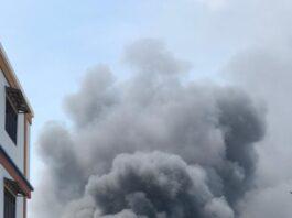 Kebakaran gudang PT. Barokah Utama Batam