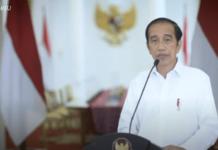 Tangkapan layar video ketika Presiden Jokowi memberikan pernyataan tentang serangan bom bunuh diri di Gereja Katedral Makassar, Minggu (28/3/2021). (Suryakepri.com)