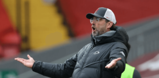 Reaksi Manajer Liverpool dalam kekalahan 0-1 dari Fulham di Anfield, Minggu (7/3/2021). Ini adalah kekalahan keenam beruntun The Reds pada Liga Premier di Anfield untuk musim 2020/21. (Foto: Premierleague.com)