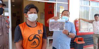 Rumakso Hadi (26), warga Sembulang Hulu, Galang harus berurusan dengan pihak kepolisian. Pasalnya, hutan seluas 1 hektar terbakar.