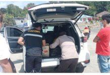 Polisi KKP Serta BC Batam Periksa Barang Penumpang di Pelabuhan Roro Punggur, Kamis (4/3/2021)