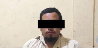 Pelaku pembunuhan seorang wanita di Tanjung Uma, Batam, Minggu (14/3/2021)