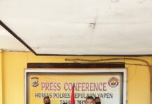 Komandan Kelompok Kriminal Bersenjata (KKB), Noak Orarei alias Noki Orarei