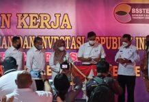 Menteri Koordinator Bidang Kemaritiman Republik Indonesia, Luhut Binsar Panjaitan meresmikan operasional PT. Batam Slop and Sludge Treatment Center (BSSTEC), yang berada di Kawasan Jembatan II Barelang, Batam, Kepulauan Riau, Kamis (18/3/2021).