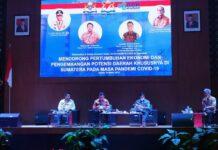 Acara Silaturahmi dan Dialog Ekonomi Ketua Umum Kadin Provinsi Se-Sumatera yang dilaksanakan di Aston Hotel Batam, Kamis (18/3/2021) malam.