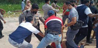 Oknum diduga provokator yang diamankan petugas kepolisian