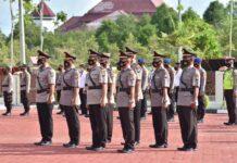 Pejabat Polres Bintan yang melaksanakan serah terima jabatan (Suryakepri.com)