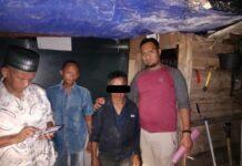 Pelaku pencabulan anak dibawah umur saat diamankan di pos security perumahan Griya Laguna Mas Tembesi Kecamatan Sagulung.