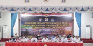 DPR RI Kunjungi Polda Kepri, Jumat (26/03/2021)