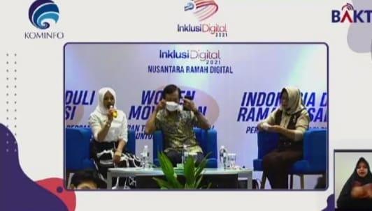 Kementerian Informasi dan Teknologi (Kominfo) menggelar inklusi digital 2021 Nusantara Ramah Digital Bagu Disabilitas, Jumat (26/3/2021).