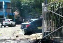 Ledakan di depan Gereja Katedral Makassar, Minggu (28/3/2021)