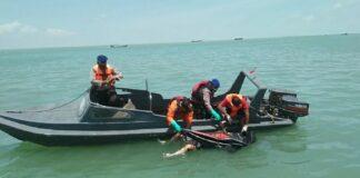 Korban saat ditemukan Tim SAR Gabungan (Suryakepri.com/Dok Tim SAR)