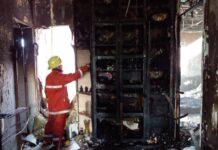 Kebakaran rumah di Perumahan Central Sukajadi Residence No. 1 Batam Kota