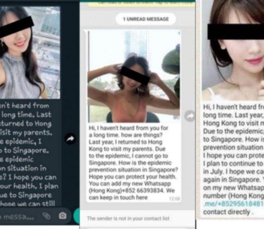 Pengirim sering mengklaim berbasis di Hong Kong. (Foto SCREENGRABS KEPOLISIAN SINGAPURA)
