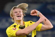 Striker Borussia Dortmund Erling Braut Haaland menjadi incaran hampir semua klub top Eropa. (Foto dari Sportsmole)