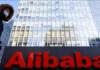 Logo Alibaba Group di kantornya di Beijing, China, 5 Januari 2021. (Foto: REUTERS / Thomas Peter via ToI)