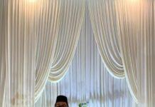 Viral Pria Berfoto Sendirian di Pelaminan, Berharap Cepat Dapat Jodoh. (Sumber: Twitter/@muzaffaryazid)