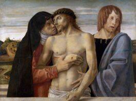 """Pietà"" oleh Giovanni Bellini, abad ke-15.Kredit...Gambar DeAgostini / Getty via New York Times)"