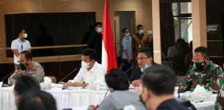Rapat Koordinasi (Rakor) Pemerintah Kota (Pemko) Batam, yang dipimpin langsung Wali Kota Batam, Muhammad Rudi, Selasa (20/04/2021). foto: SK/ nando