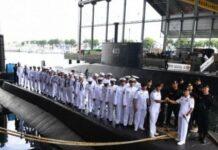 Foto file. Awak kapal KRI Nanggala 402. Foto diambil di di Dermaga Kapal Selam Komando Armada II, Surabaya, Jawa Timur, Rabu (20/4/2019)(Antara Foto)