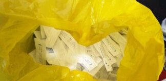 Penampakan alat antigen bekas sebelum didaur ulang Foto: Dok. Polda Sumut