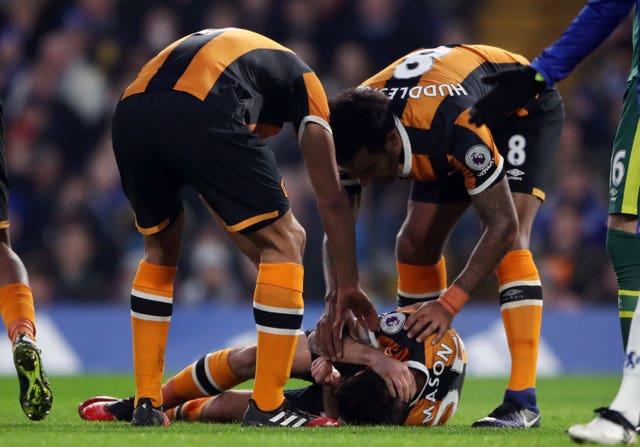 Karier bermain Ryan Mason berakhir di Hull City pada 2018 akibat mengalami retak pada tengkoraknya.(Foto: Nick Potts / PA)