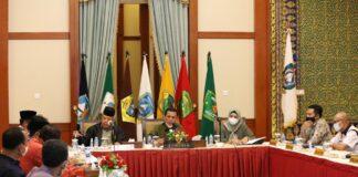 Gubernur Kepri pimpin Rapat Koordinasi bersama BUMD Provinsi Kepri di Gedung Daerah, Tanjungpinang, Kamis (4/1) malam.