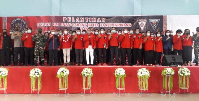 Pelantikan pengurus DPC PBB Tanjungpinang (Suryakepri.com/ist)