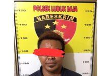 Sukarman (37), diringkus jajaran Reskrim Polsek Lubukbaja di Nagoya Permai Lubuk Baja, Sabtu (03/04/2021) lalu.