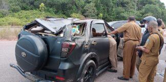 Mobil yang alami kecelakaan (Suryakepri.com/ist)
