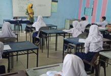 Prosesi Belajar Tatap Muka di SMP 41 Batam