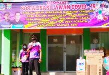 Kapolres Bintan AKBP Bambang Sugihartono saat meresmikan Kampung Tangguh se-Kelurahan dan Desa di wilayah Hukum Polsek Gunung Kijang (Suryakepri.com)