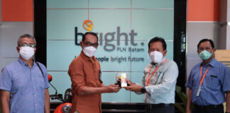 KPU mengapresiasi Bright PLN Batam atas dukungan dan kesiapsiagaan ketersediaan listrik selama tahapan Pilkada Serentak 2020 di Kota Batam, Rabu (07/04/2021)