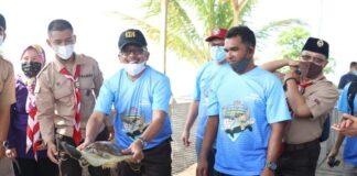 Kolaborasi Pramuka Batam dan PT Epson, Dukung Program Konservasi dan Pariwisata Pulau Karas Kecil