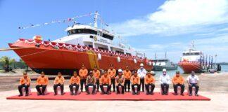 Kepala Badan Nasional Pencarian dan Pertolongan (Kabasarnas) Marsekal Madya TNI Henri Alfiandi saat meluncurkan Kapal SAR baru di Batam (Suryakepri.com)