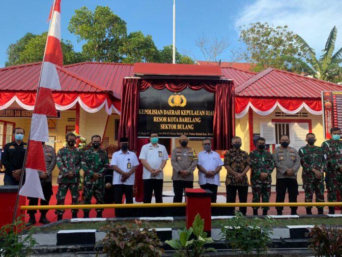Peresmian Polsek Bulang, Rabu (14/04/2021)