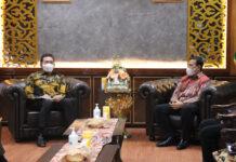 Jaksa Agung RI. Dr. Burhanuddin saat menerima kunjungan Ketua Ombudsman RI Mokhammad Najih (Suryakepri.com)