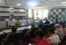 Suasana rapat bersama penanganan Covid-19 di Kantor Bupati Karimun, Kamis (29/4/2021) siang. Foto Suryakepri.com/YAHYA