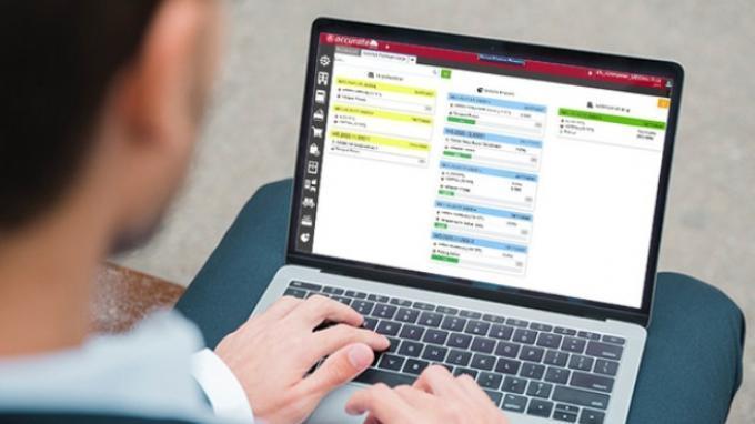 Tampilan Monitor Perintah Kerja di Accurate Manufaktur.