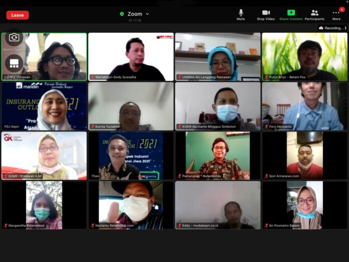 orum Diskusi Jurnalis Kepri (FKJD), yang digelar secara virtual, Rabu (14/4/2021) sore.
